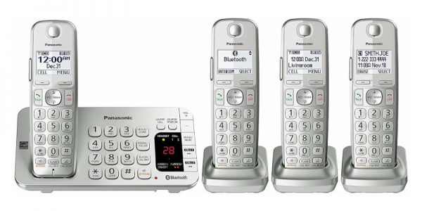 Panasonic KX-TGE474S Link2Cell Bluetooth Cordless Phone1